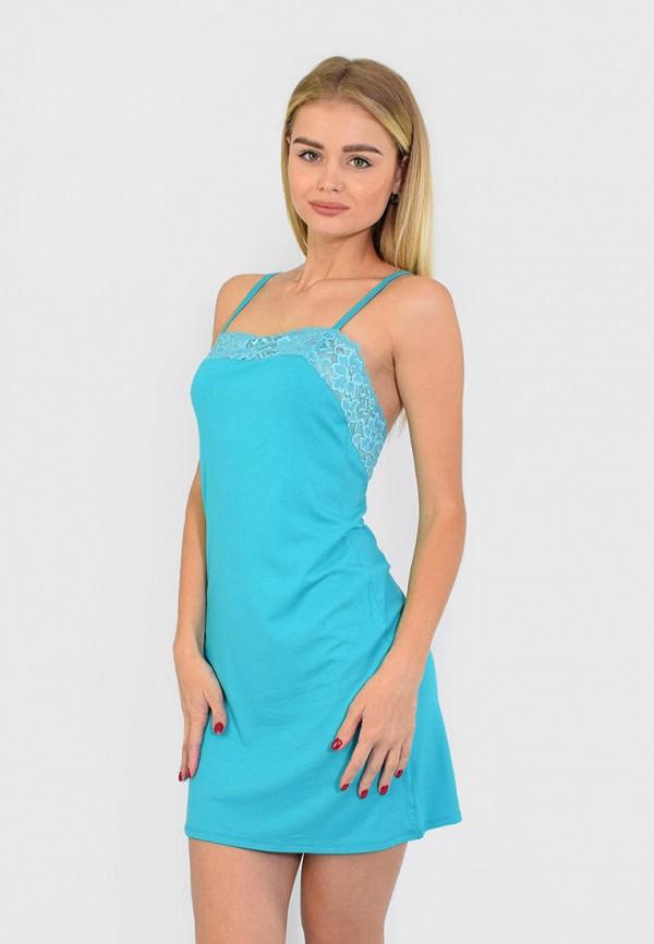 женские сорочка ночная n.el, бирюзовые