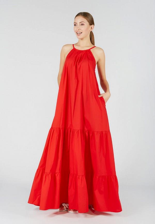женский сарафан ora, красный