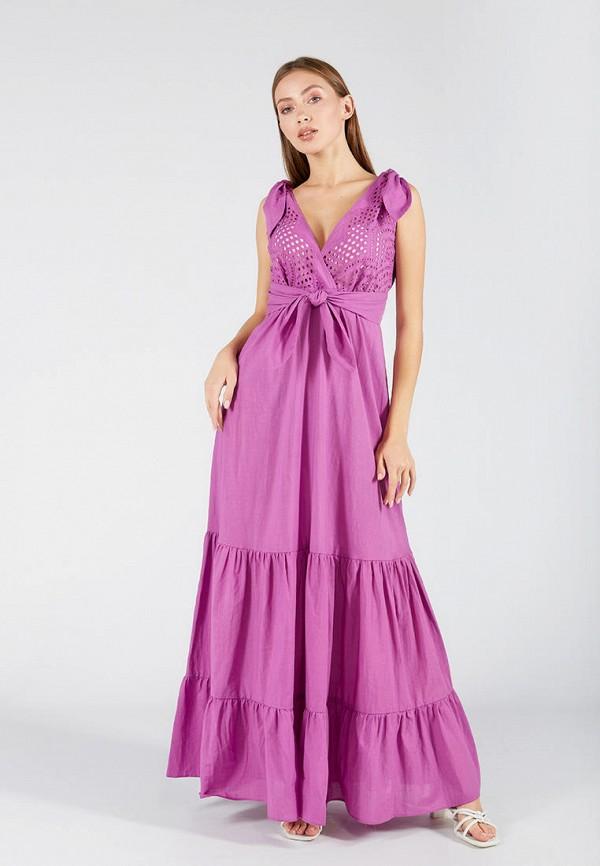 женское повседневные платье ora, фиолетовое