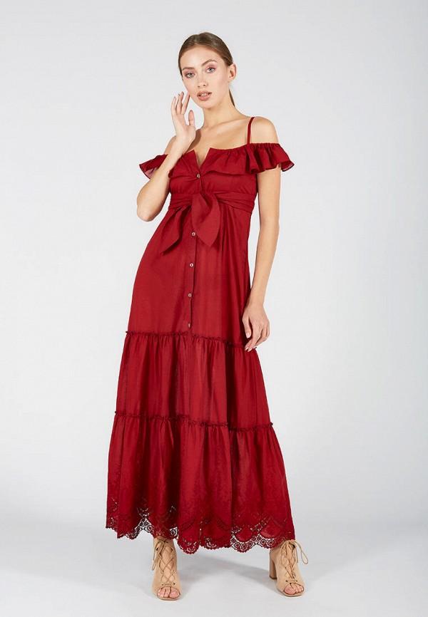 женское платье ora, бордовое