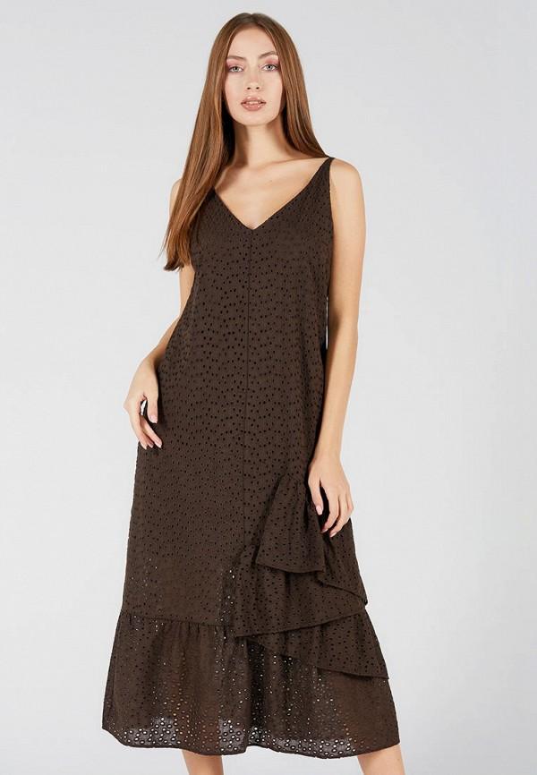 женский сарафан ora, коричневый