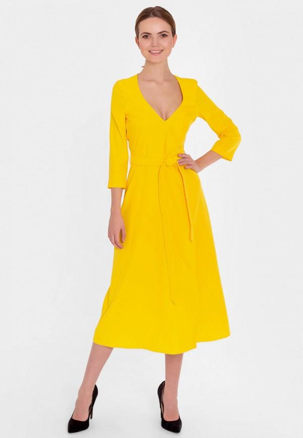 женское платье nai lu-na by anastasia ivanova, желтое