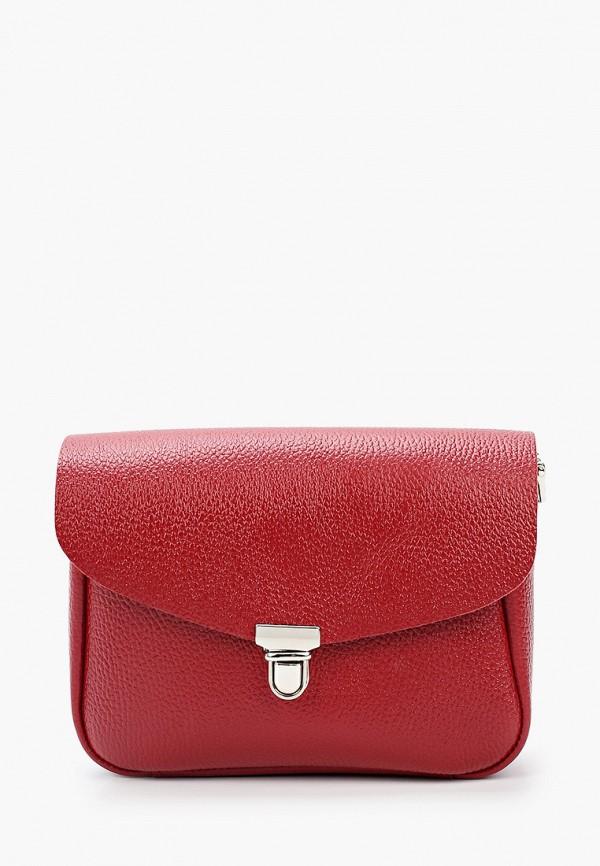 женская сумка через плечо divalli, красная