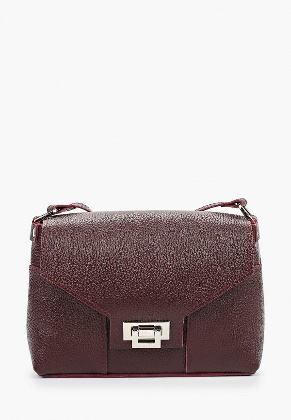 женская сумка через плечо divalli, бордовая