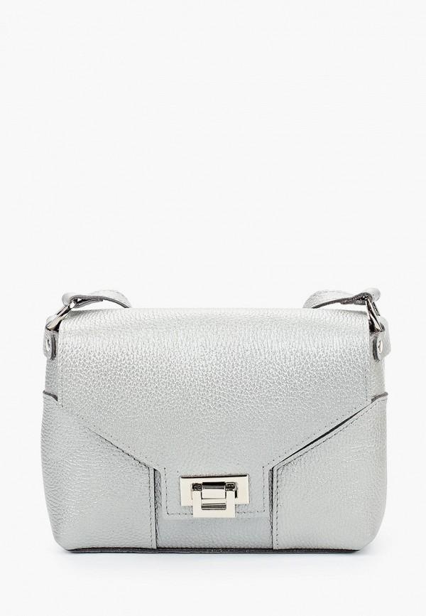 женская сумка через плечо divalli, серебряная