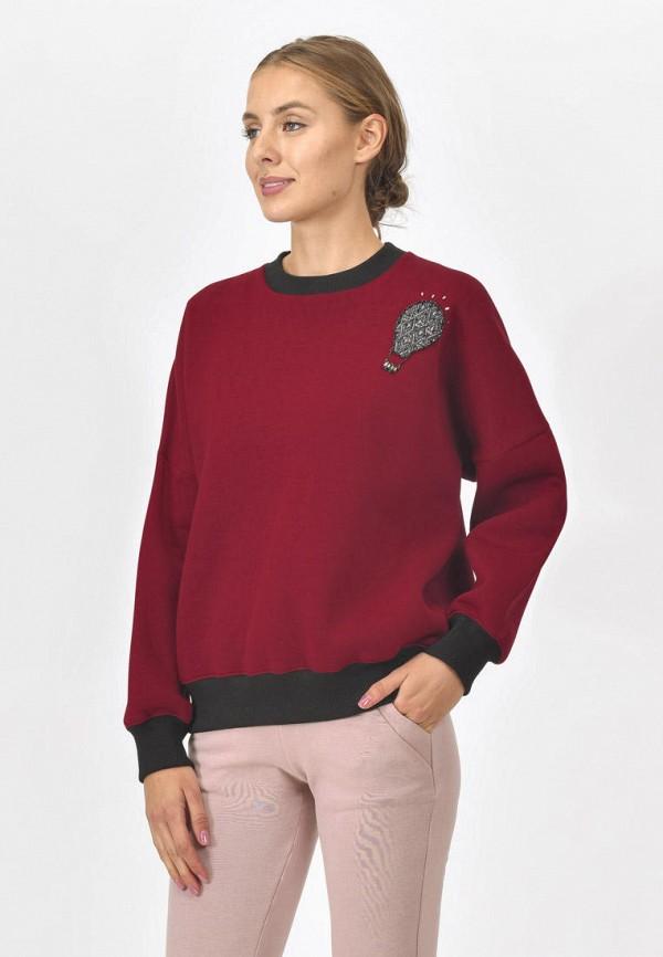 женский свитшот raimaxx, бордовый