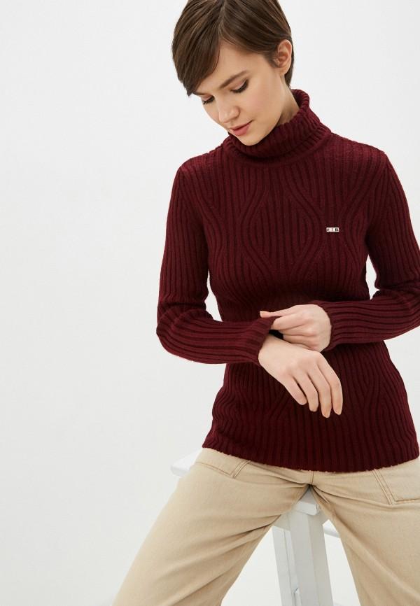 женский свитер u.s. polo assn, бордовый