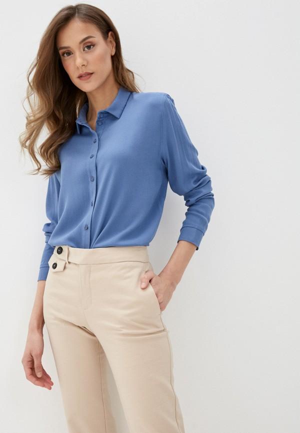 женская блузка с длинным рукавом mark formelle, синяя