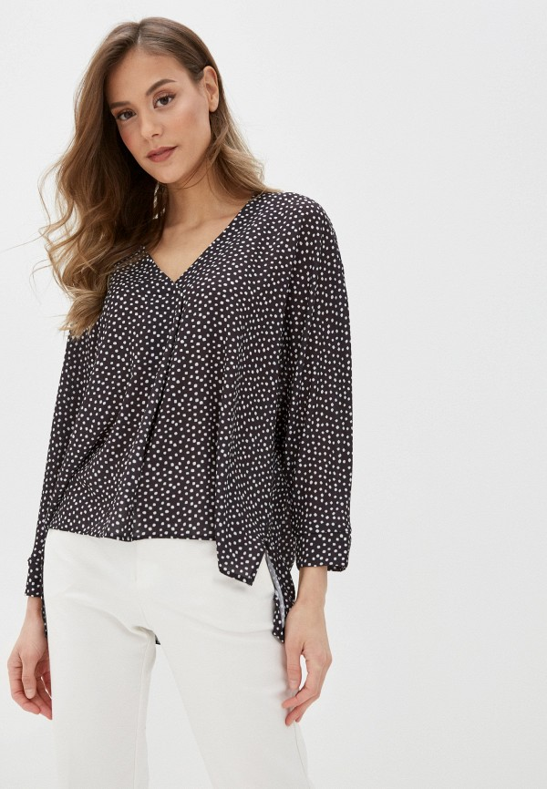женская блузка с длинным рукавом mark formelle, черная