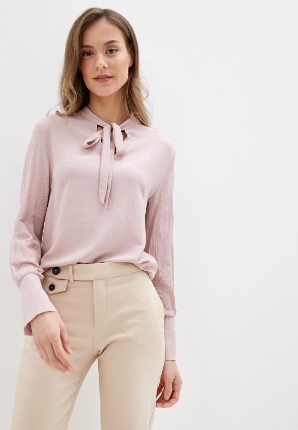 женская блузка с длинным рукавом mark formelle, розовая