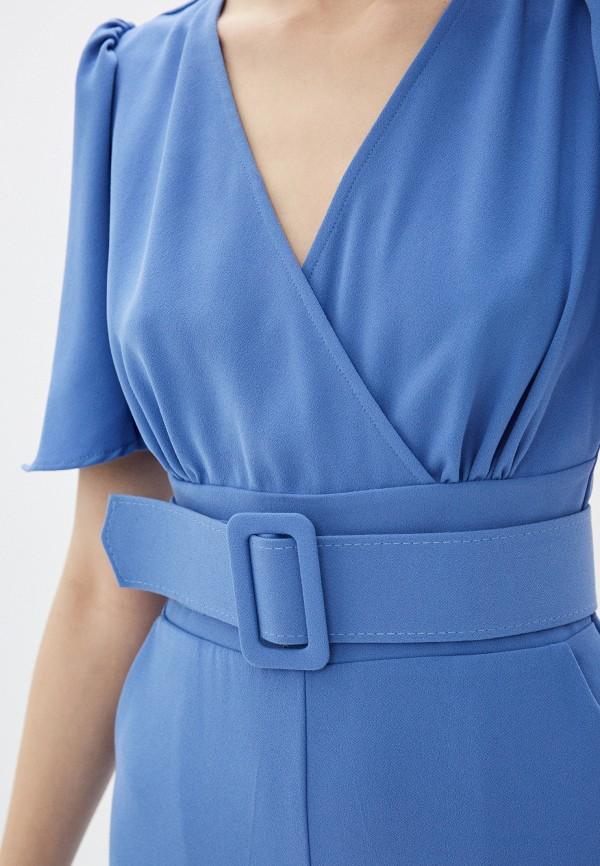 Фото 4 - Женский комбинезон Joymiss голубого цвета