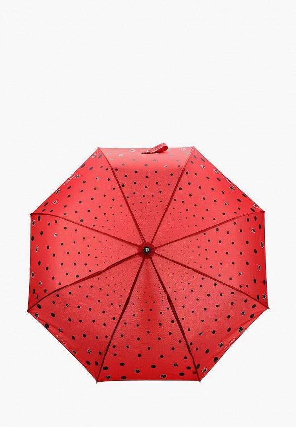 женский складные зонт flioraj, бордовый