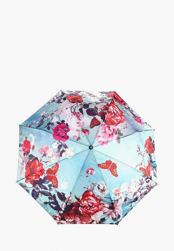 женский складные зонт flioraj, бирюзовый