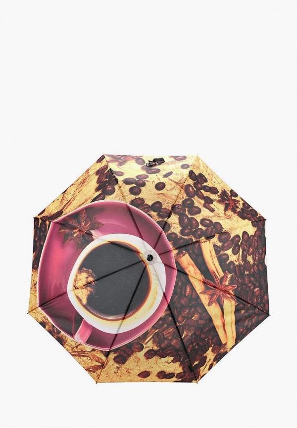 женский складные зонт flioraj, коричневый