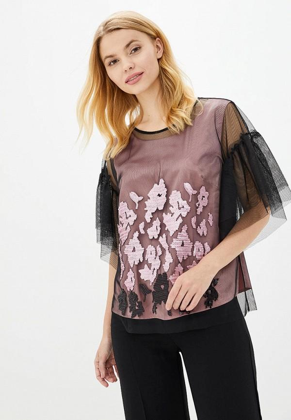 женская блузка ricamare, розовая