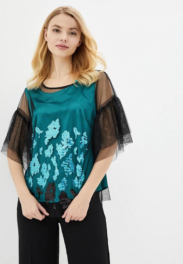 женская блузка ricamare, зеленая