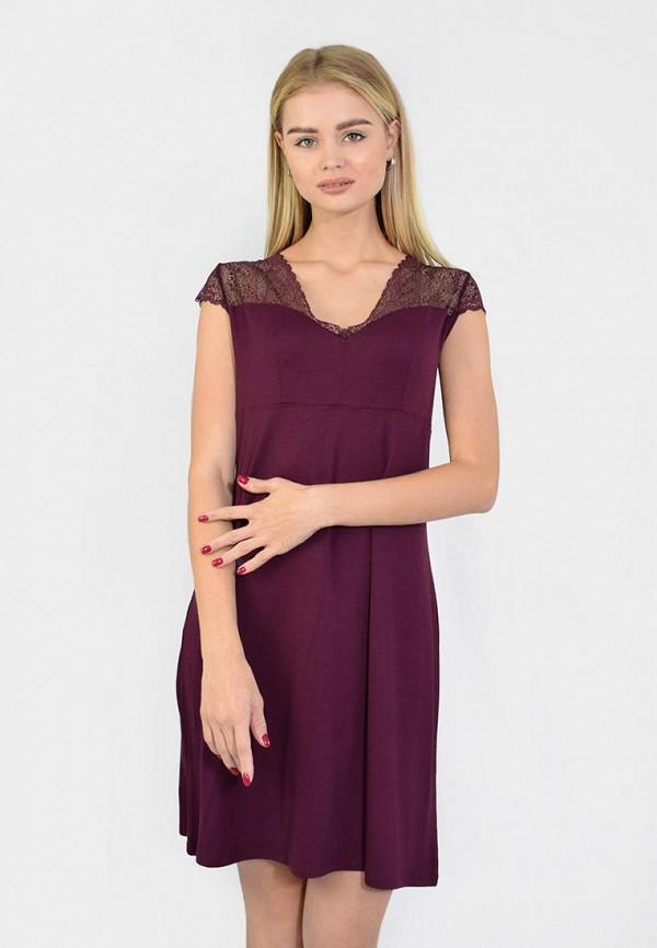 женские сорочка ночная n.el, фиолетовые