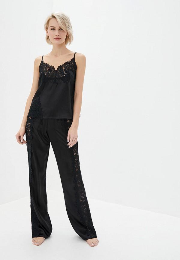 женская пижама reine rouge, черная