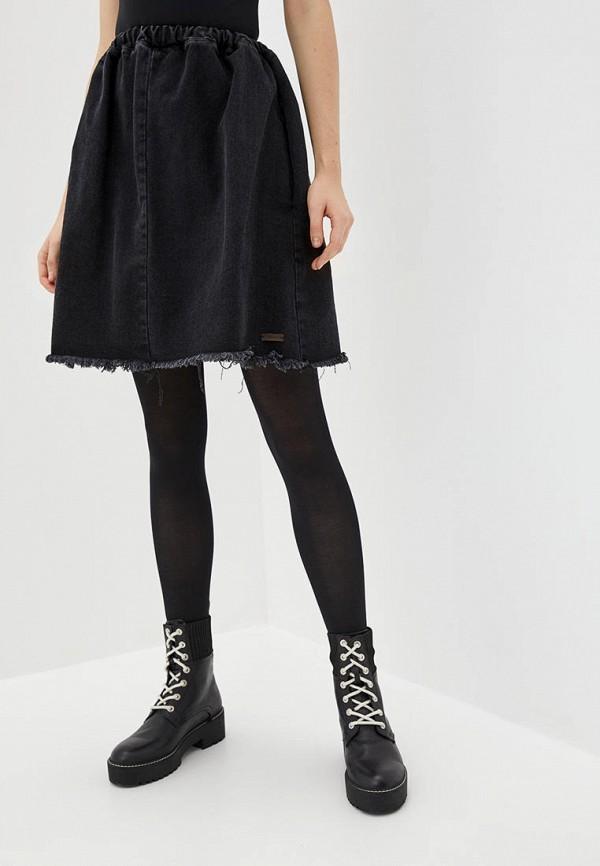 женская джинсовые юбка whynotdenim, черная