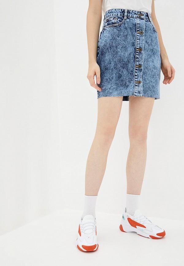 женская джинсовые юбка whynotdenim, голубая