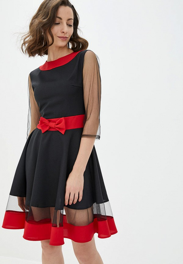 женское вечерние платье подіум, черное