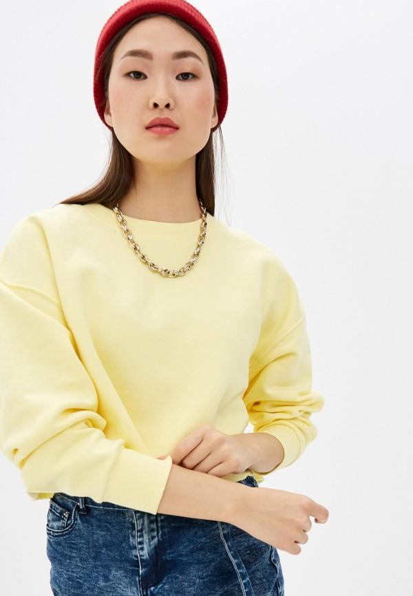 женский свитшот befree, желтый
