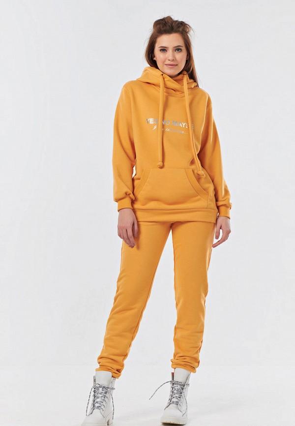 женский спортивный костюм fly, желтый