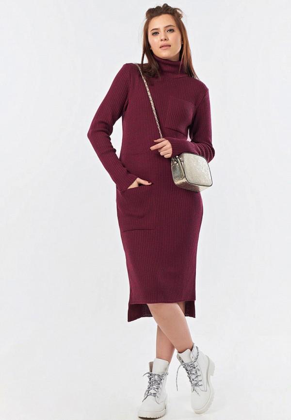 женское платье-свитеры fly, бордовое