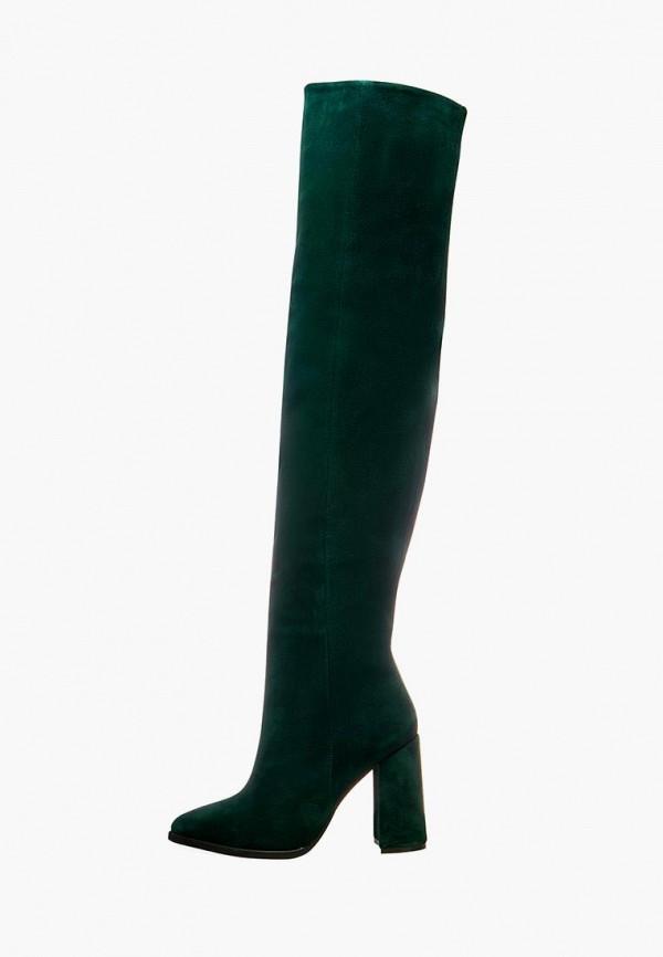 женские ботфорты emmelie delage, зеленые
