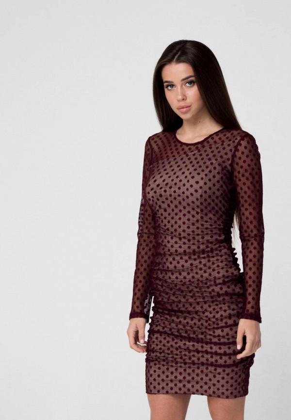 женское вечерние платье ricamare, бордовое