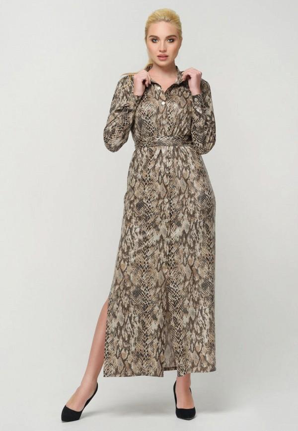 женское вечерние платье ricamare, бежевое