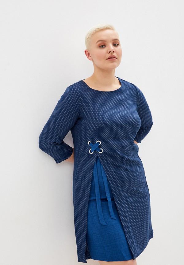 женское платье миди viserdi, синее