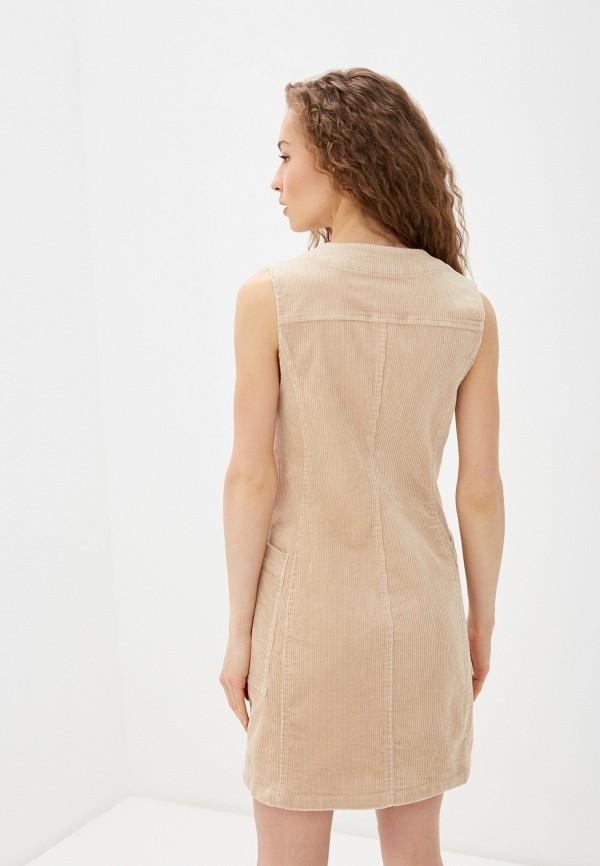 Фото 3 - Женское платье Befree бежевого цвета