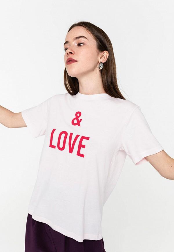 Фото - Женскую футболку Befree розового цвета