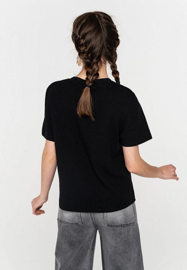 Фото 3 - Женскую футболку Befree черного цвета