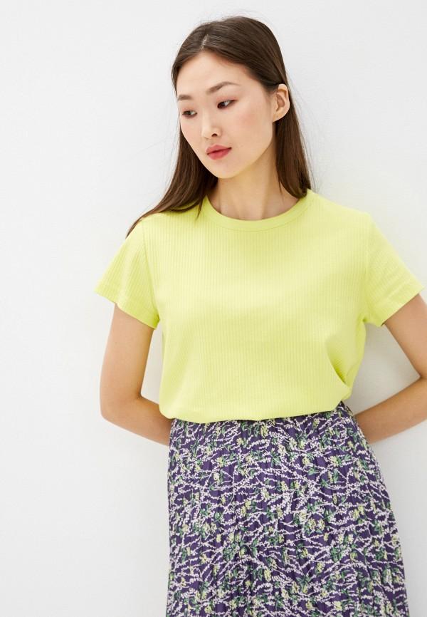 Фото - Женскую футболку Befree желтого цвета