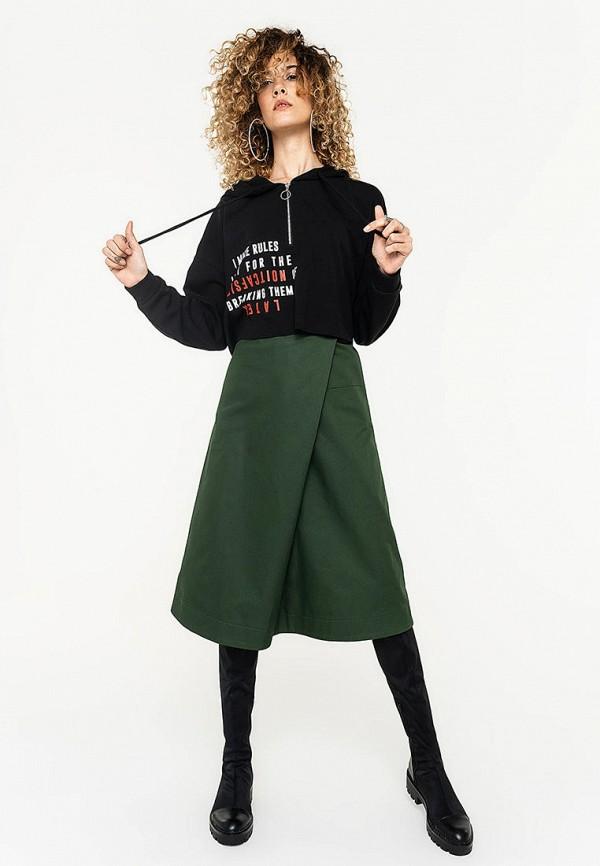 Фото 2 - Женскую юбку Befree зеленого цвета