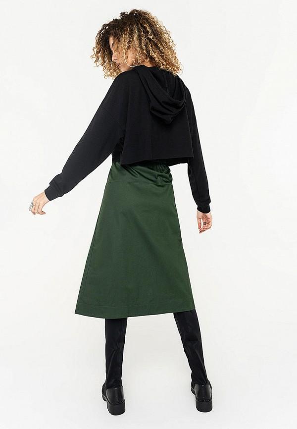 Фото 3 - Женскую юбку Befree зеленого цвета