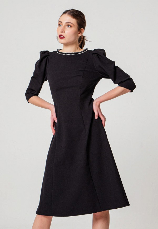 женское повседневные платье bgn, черное