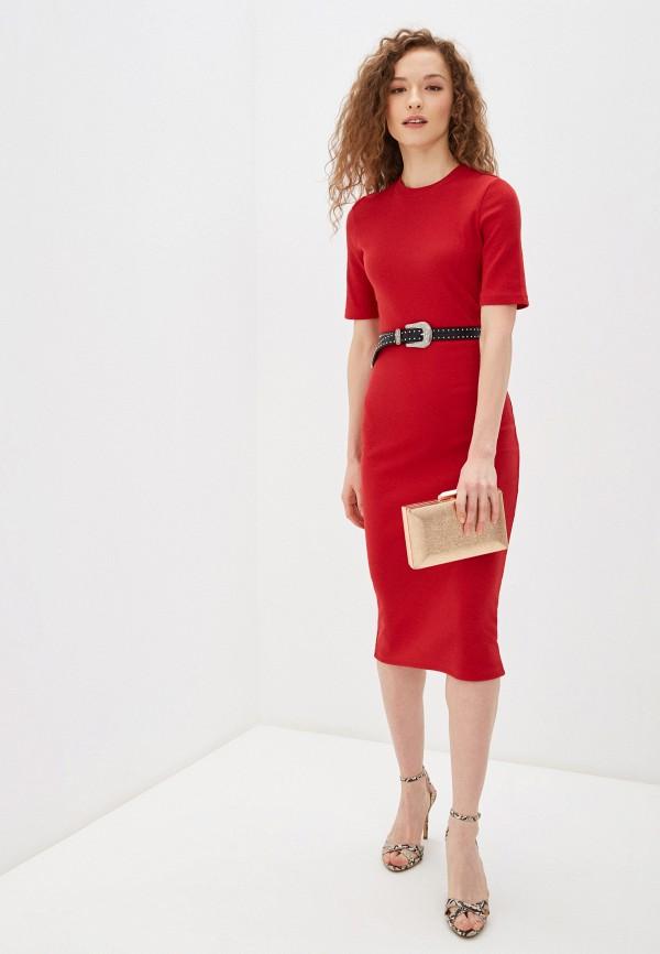 Фото 4 - Женское платье Befree красного цвета