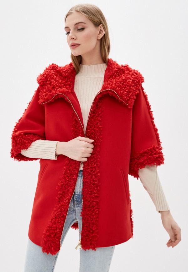 женское пальто karolina, красное
