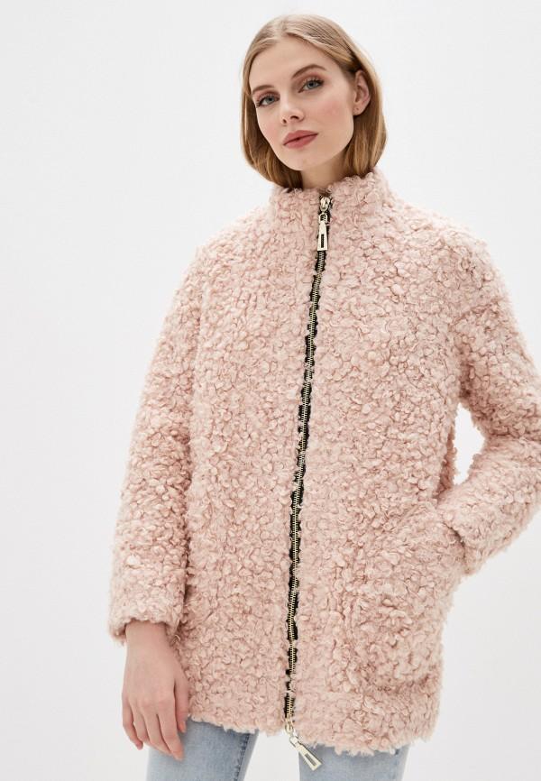 женская шуба karolina, розовая