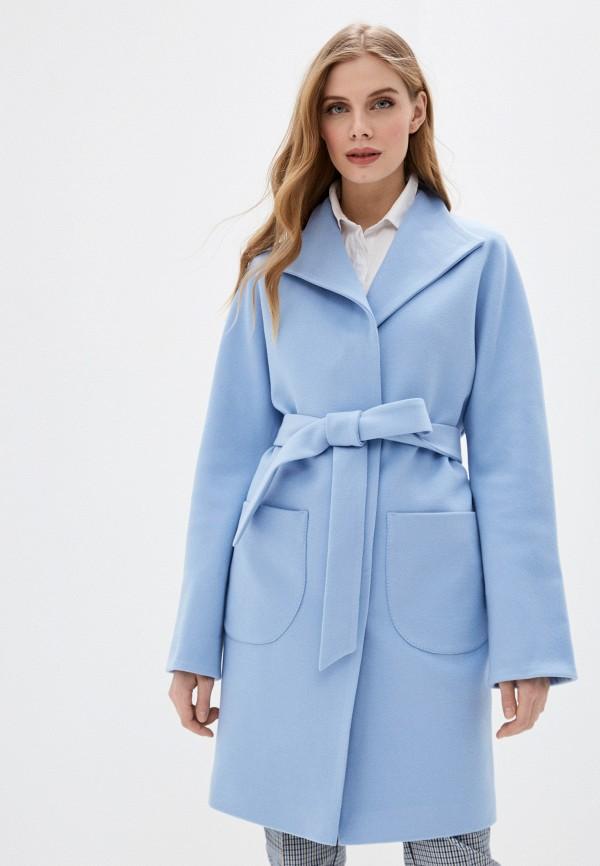 женское пальто karolina, голубое