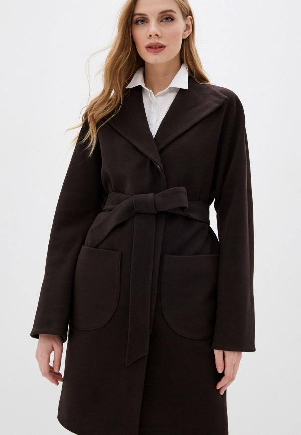 женское пальто karolina, коричневое