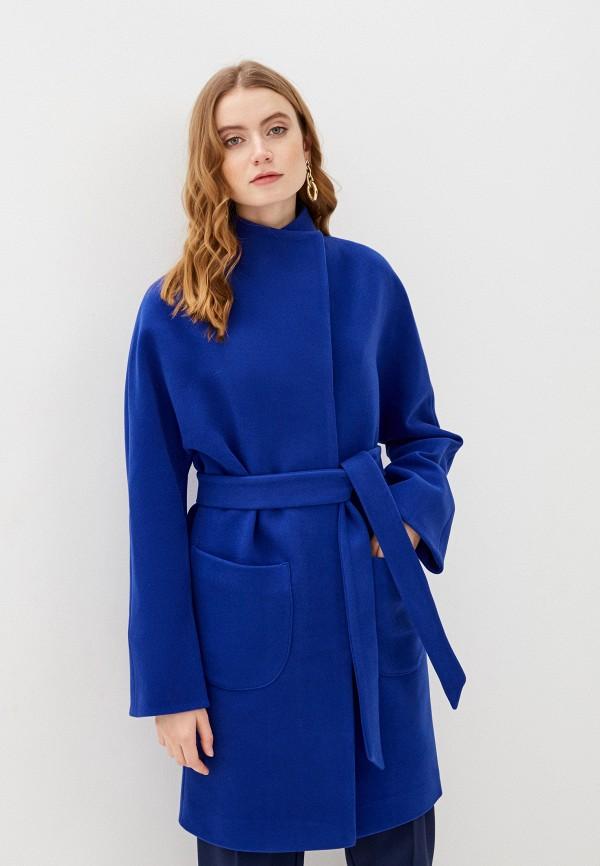 женское пальто karolina, синее