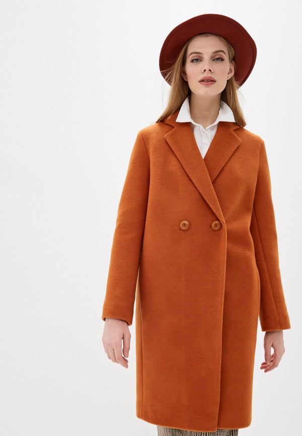 женское пальто karolina, оранжевое