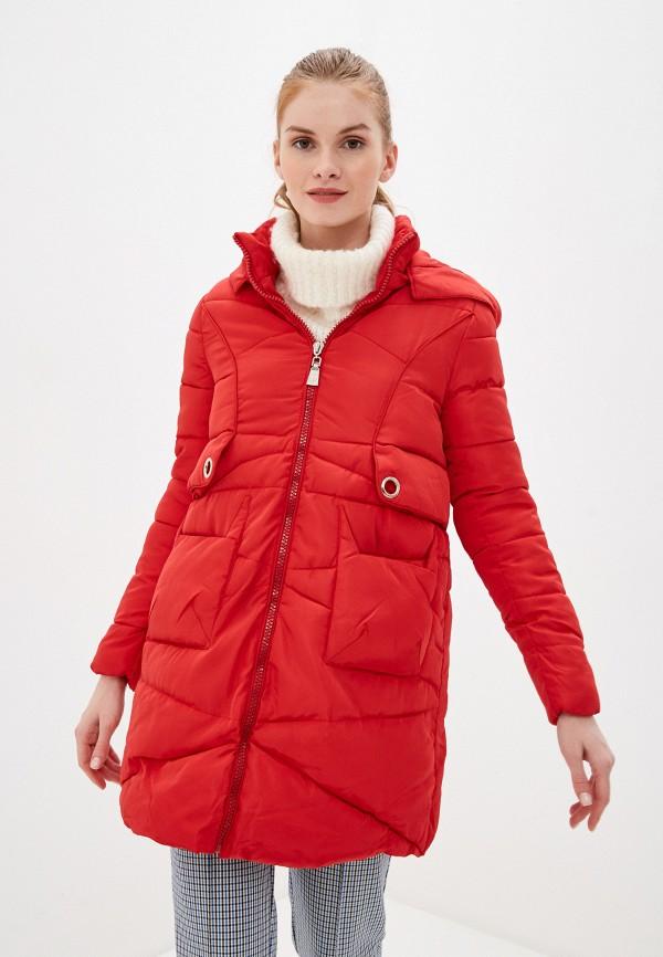 женская утепленные куртка karolina, красная