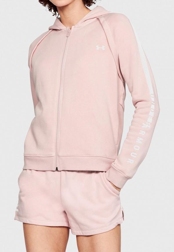 женская толстовка under armour, розовая