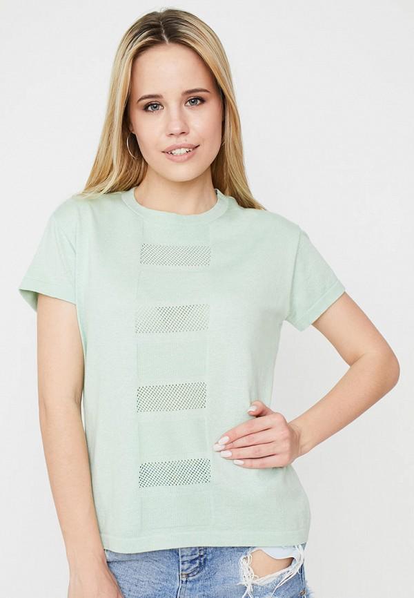 женская футболка прованс, бирюзовая
