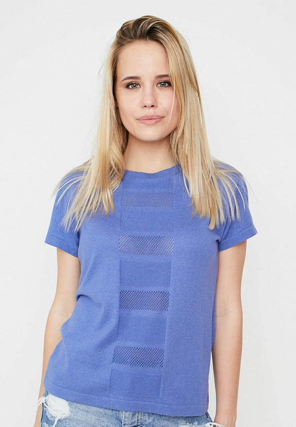 женская футболка прованс, синяя